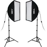 Smith-Victor K71 3-Light 2600w Professional Studio Soft Box Kit